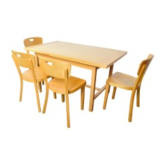 Ikea Wooden Dining Table 4 Chairs And For Sale Sets Used