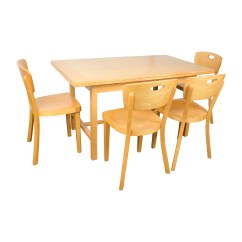 Ikea Wooden Dining Table 4 Chairs Kitchen With Rollers Sets Used For Sale