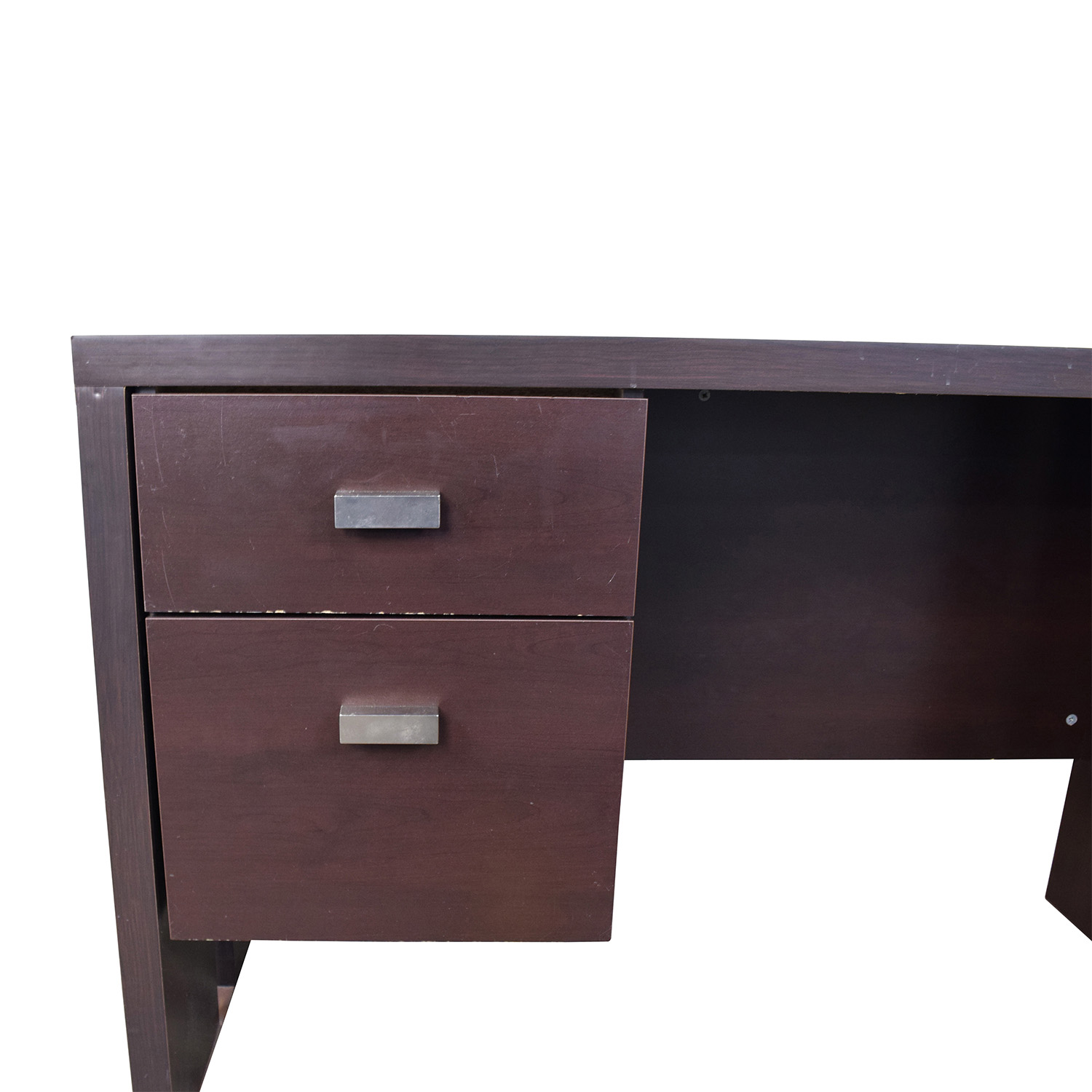 76 OFF  Walmart Walmart Brown Desk with TwoDrawers  Tables