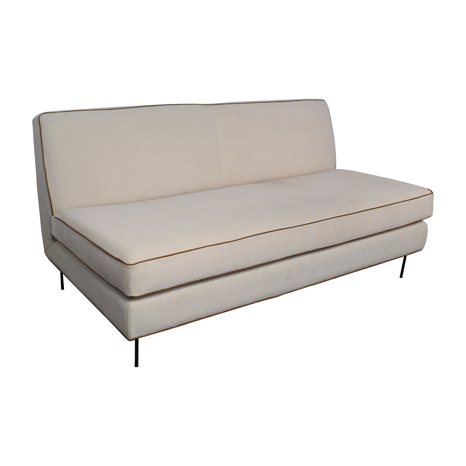 westelm sofa bed raymour and flanigan leather 56 off west elm commune armless sofas