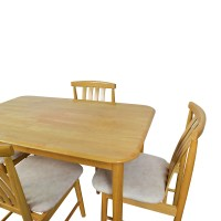 71% OFF - Light Wood Dining Table with Four Chairs / Tables