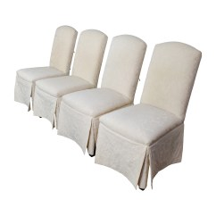 Upholstered Chairs Dining Wicker And Coffee Table 90 Off Thomasville Ivory