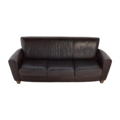 Black Leather Sofa Cushion Covers Florence Knoll Three England Furniture Feature Product