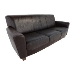 Three Cushion Sofa Silver Grey What Colour Walls 90 Off Brown Leather Sofas