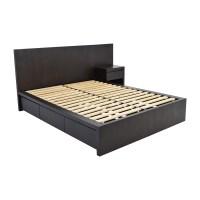 54% OFF - West Elm West Elm Storage Queen Platform Bed and ...