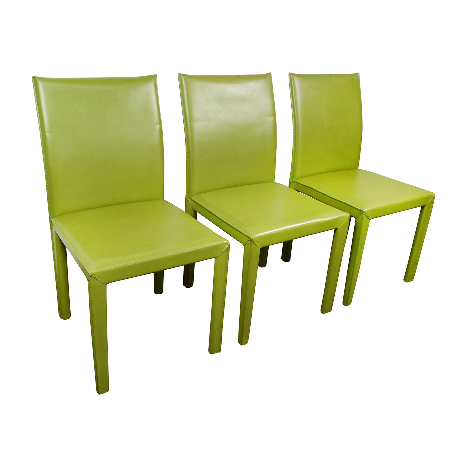 Lime Green Accent Chair 90 Off Wade Logan Wade Logan Meade Lime Green Leather
