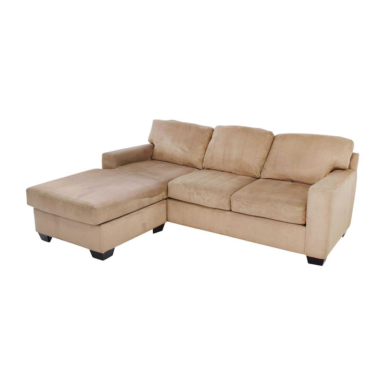 tan furniture sofa bauhaus cover 75 off max home sectional chaise sofas