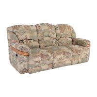 82% OFF - Patterned Fabric Recliner Sofa / Sofas