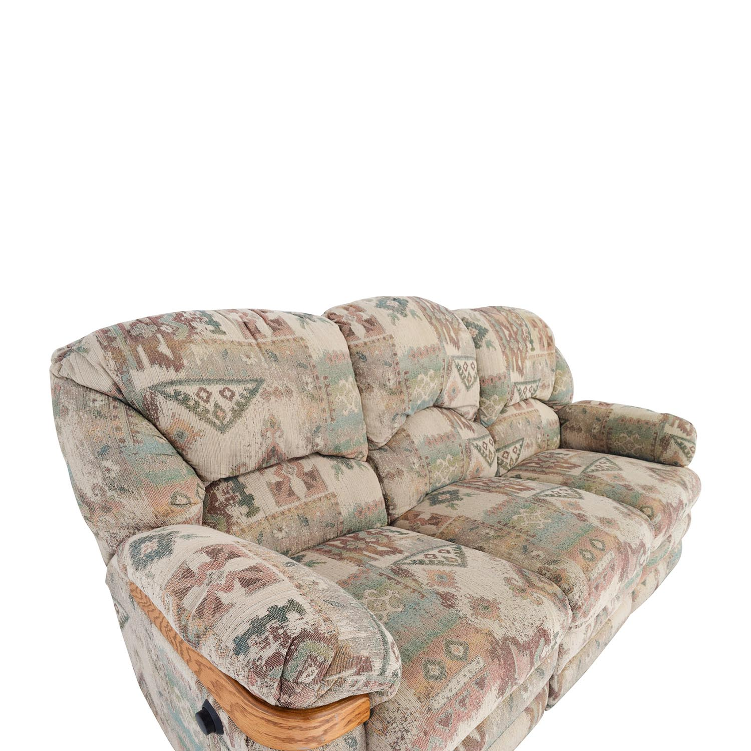 wood sofa bed with storage white sets 82% off - patterned fabric recliner / sofas