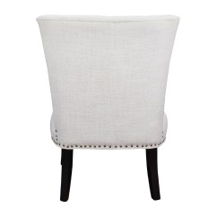 White Tufted Chair Folding Replacement Feet 66 Off Unkown Accent Chairs