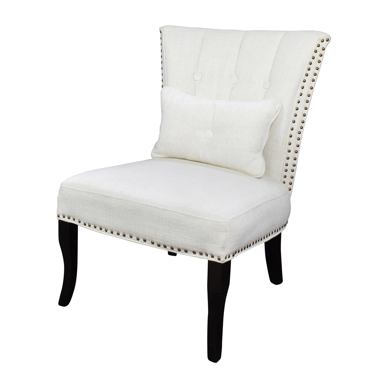 White Arm Chairs 66 Off Unkown White Tufted Accent Chair Chairs