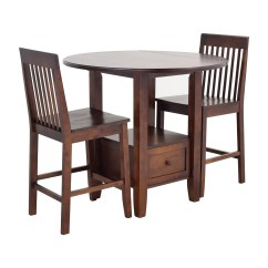 Pub Table With Chairs And Bench Glass Set 61 Off Threshold Tables