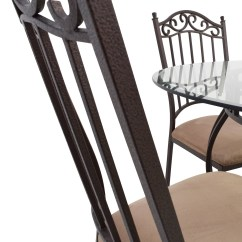 Circle Glass Table And Chairs Cheap Patio Chair Cushions Clearance 72 Off Wrought Iron Round Tables