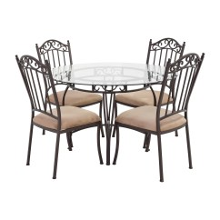 Round Table With Chairs Stressless Office Uk 72 Off Wrought Iron Glass And Tables