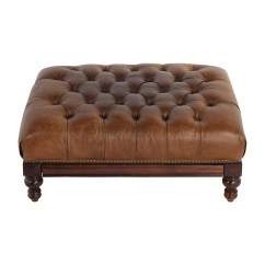 Leather Tufted Chair And Ottoman Gym Instruction Manual Ottomans Used For Sale