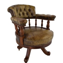 Wheel Chair For Sale Amish Rocking Cushions 86 Off Antique Leather Captain 39s Chairs