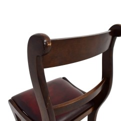 Wood And Leather Office Chair Amish 3 In 1 Highchair 78 Off Dark With Seat Chairs