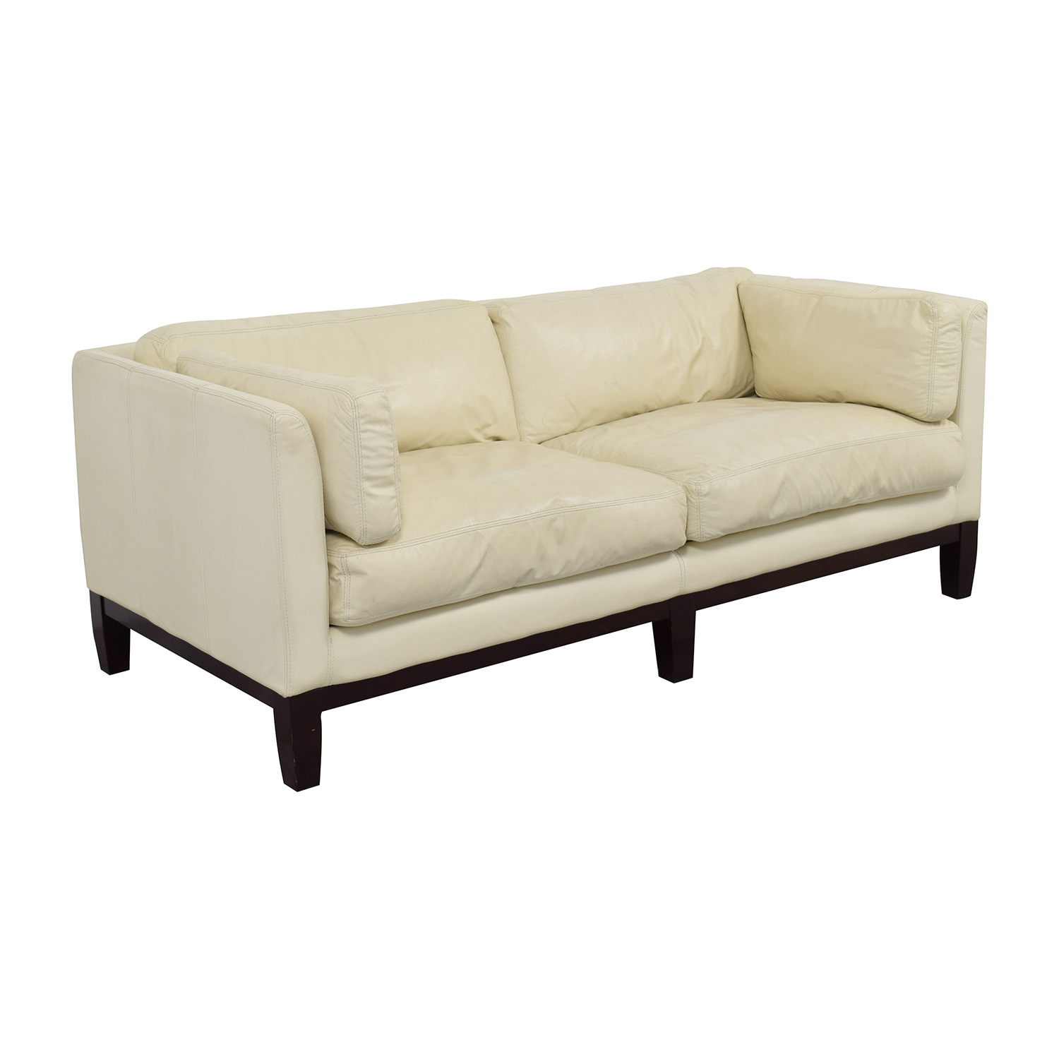secondhand leather sofas wood frame sofa manufacturers 2nd hand white brokeasshome