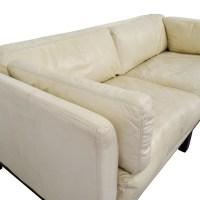 72% OFF - Decoro Decoro Off-White Leather Sofa / Sofas
