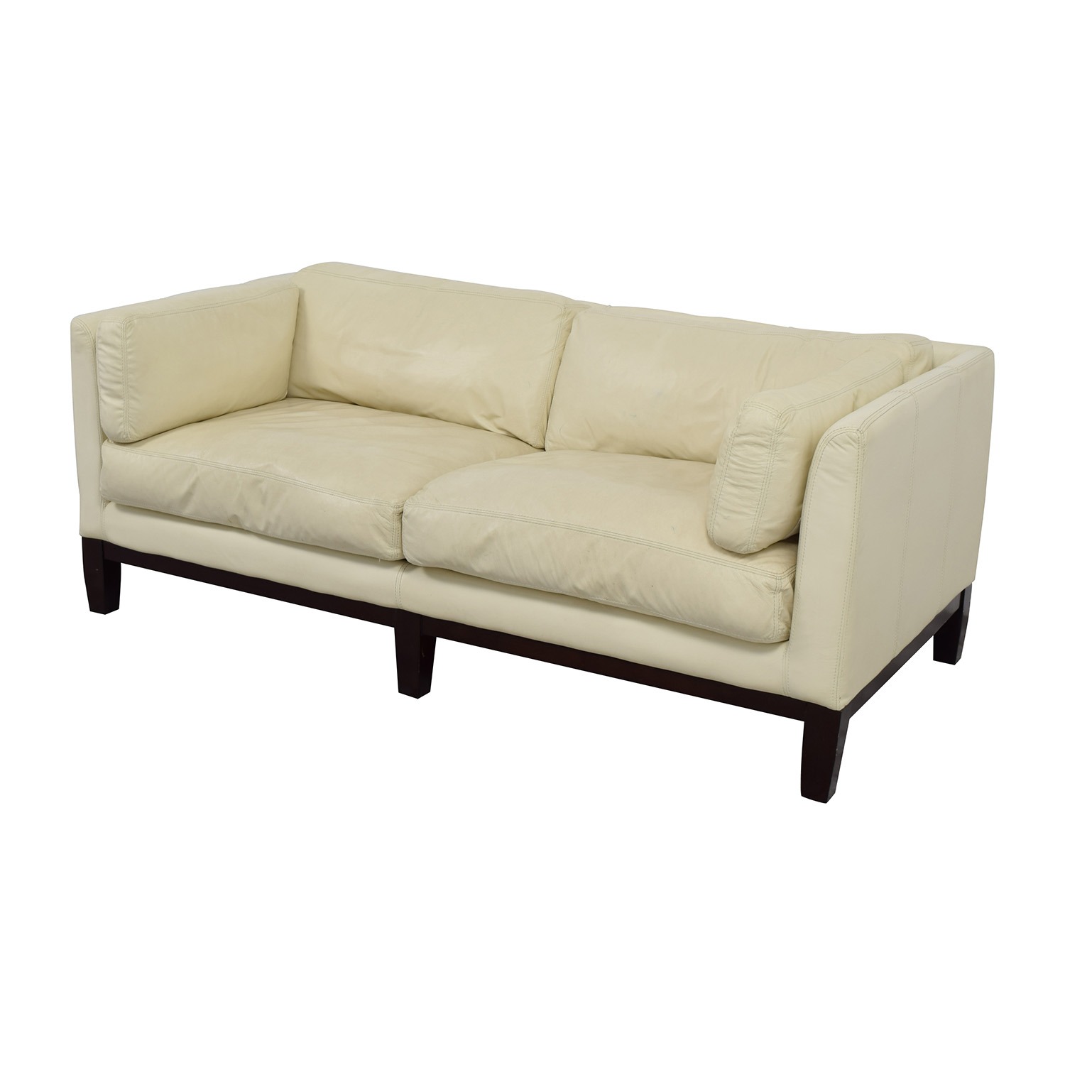 white leather sectional sofa with ottoman green chair covers off rita modern