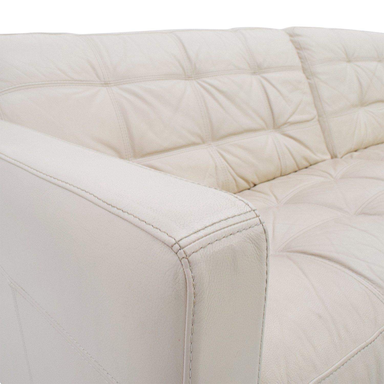 85 Off Macy S Milan Pearl Leather Sofa Sofas