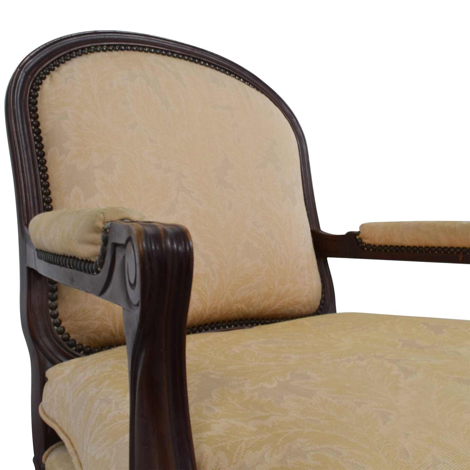 Gold Accent Chairs 75 Off Gold Floral Jacquard Upholstered Studded Accent