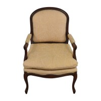 75% OFF - Gold Floral Jacquard Upholstered Studded Accent ...