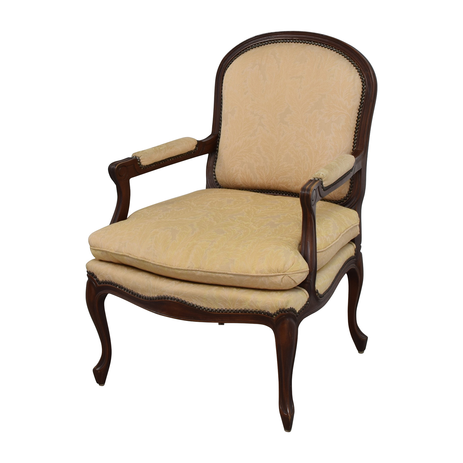 Floral Chair 75 Off Gold Floral Jacquard Upholstered Studded Accent