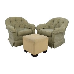 Swivel Club Chair With Ottoman Ergonomic Drafting Reviews Coupon Sherrill Furniture Skirted Chairs Beige
