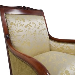 Damask Accent Chair Table And For Toddlers 90 Off Silk Gold Upholstered Chairs