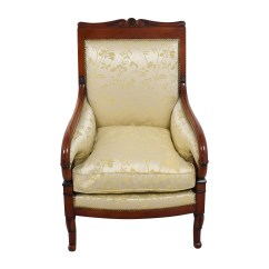 Damask Accent Chair Sciatic Nerve Pillow 90 Off Silk Gold Upholstered Chairs