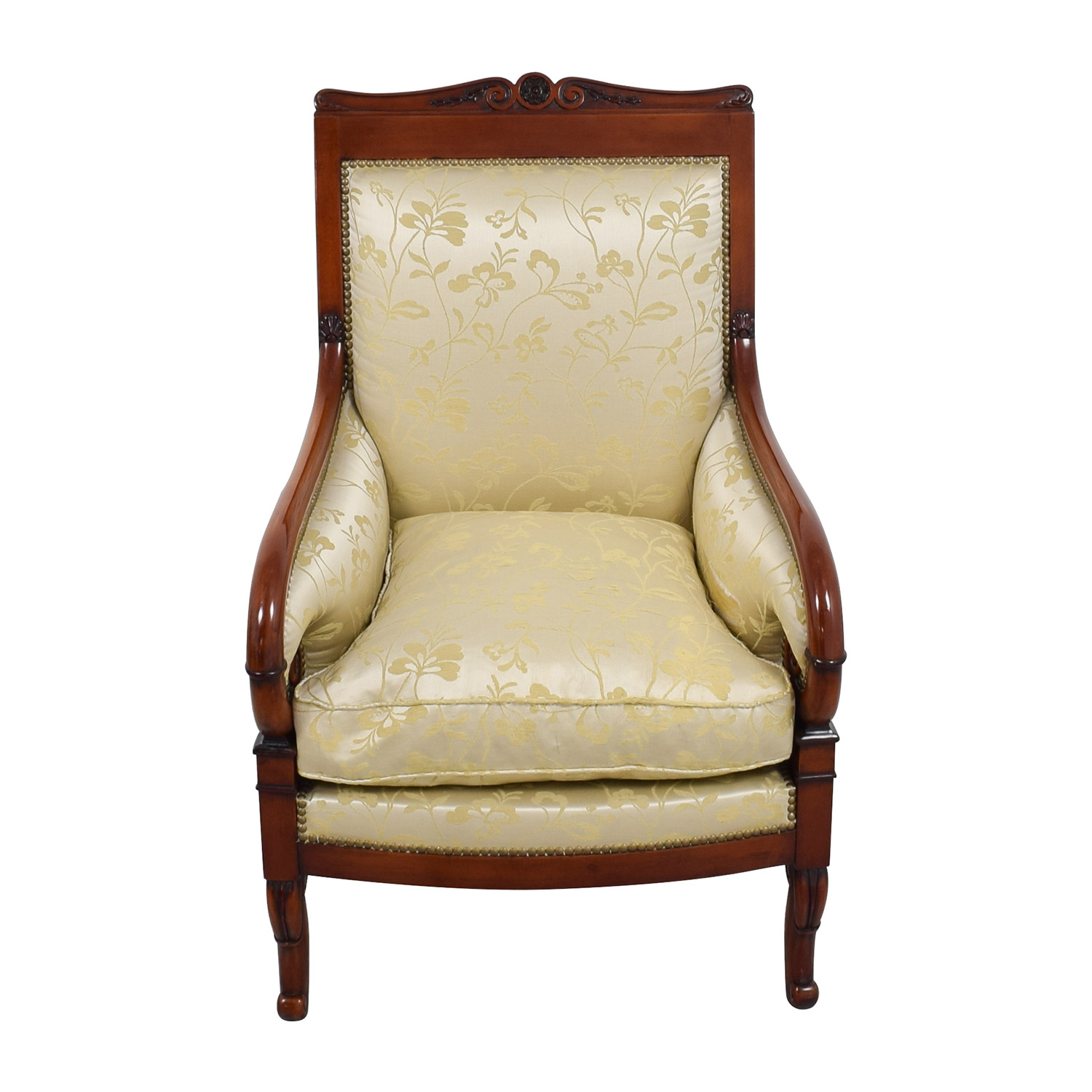 Gold Accent Chairs 90 Off Silk Damask Gold Upholstered Chair Chairs
