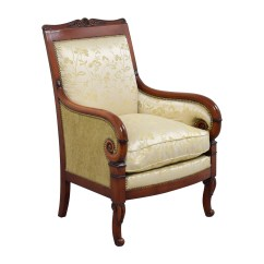 Damask Accent Chair Diy Wooden Seat Replacement 90 Off Silk Gold Upholstered Chairs