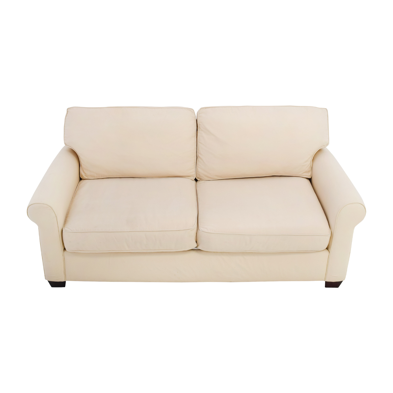 buchanan sofa cover corner designs for small living room barn 90 off pottery beige upholstered two