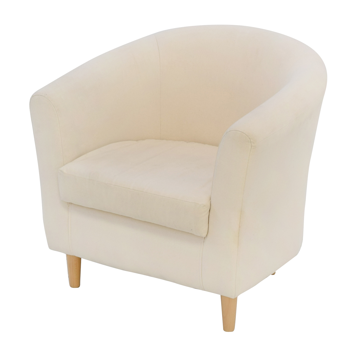 68 OFF  Cream Accent Chair  Chairs