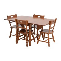 83% OFF - Maple Dining Table with Four Matching Chairs ...