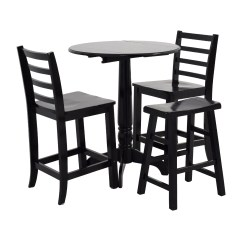 Stool Chair Second Hand Black And White Chevron 59 Off Counter Round Table With Chairs