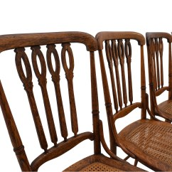 Antique Cane Chairs Swivel Office 52 Off Weaved Wood Dining