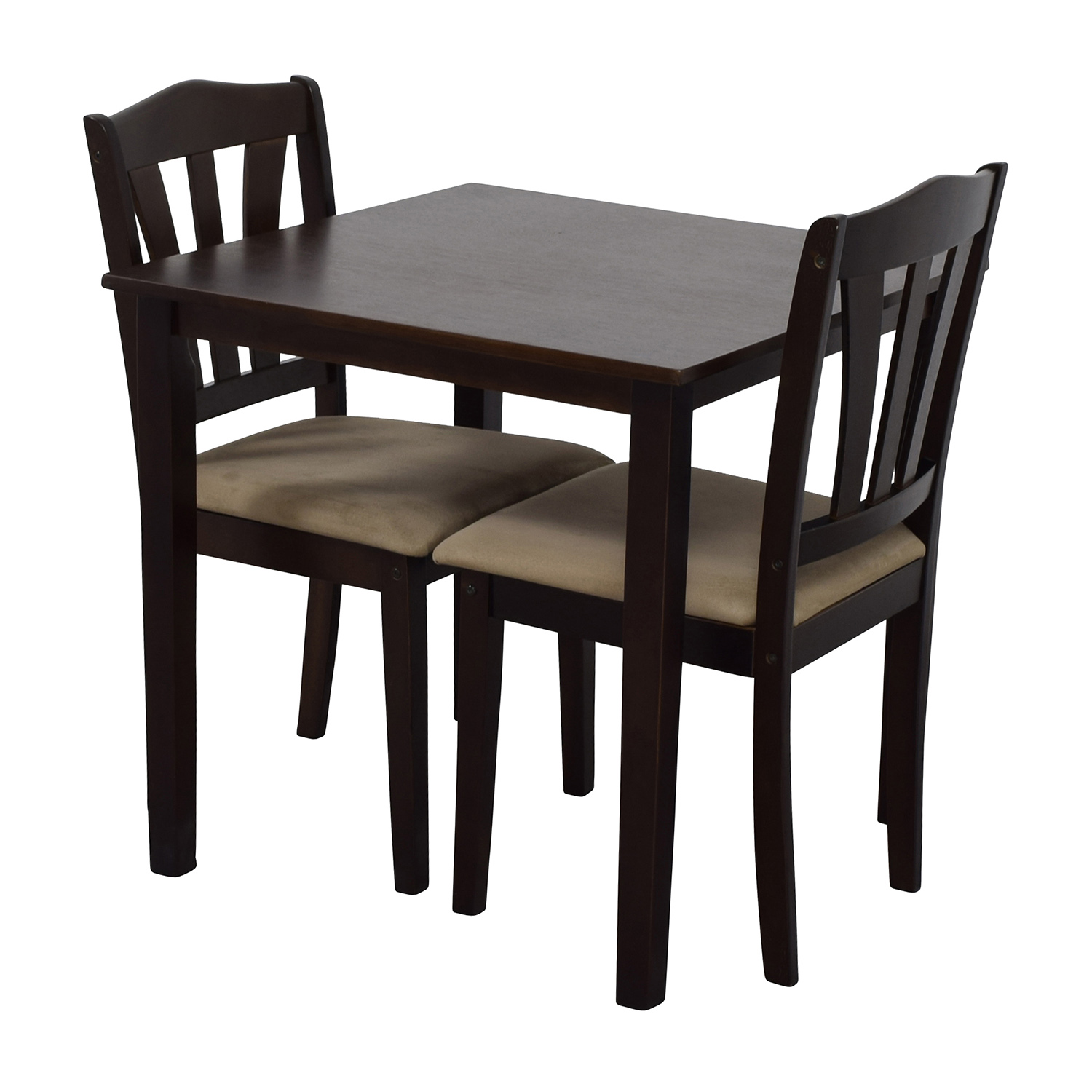 Used Restaurant Tables And Chairs 46 Off Wood Dining Table And Beige Upholstered Chairs