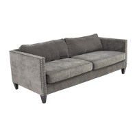 Grey Studded Sofa 64 Off Coaster Furniture Grey Microfiber ...