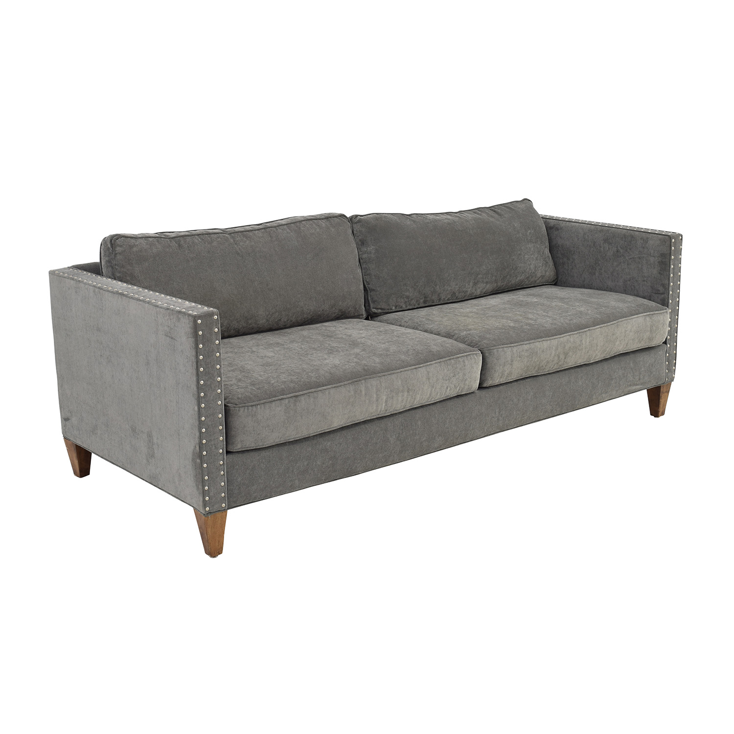 aidan gray sofa table white wicker outdoor grey studded sofas and loveseats leather couch ethan
