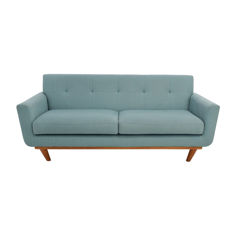 teal sofas sofa bwd 59 off midcentury modern tufted light loveseat sale