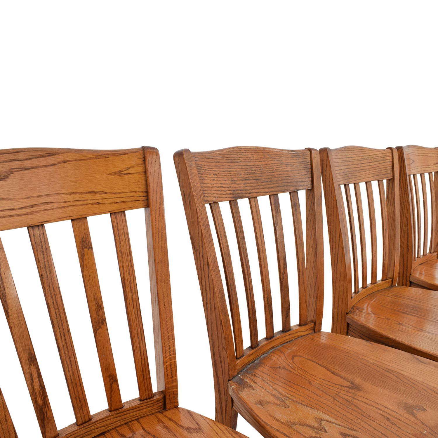 wooden slat chairs stretch chair covers for sale in south africa 71 off four brown back wood