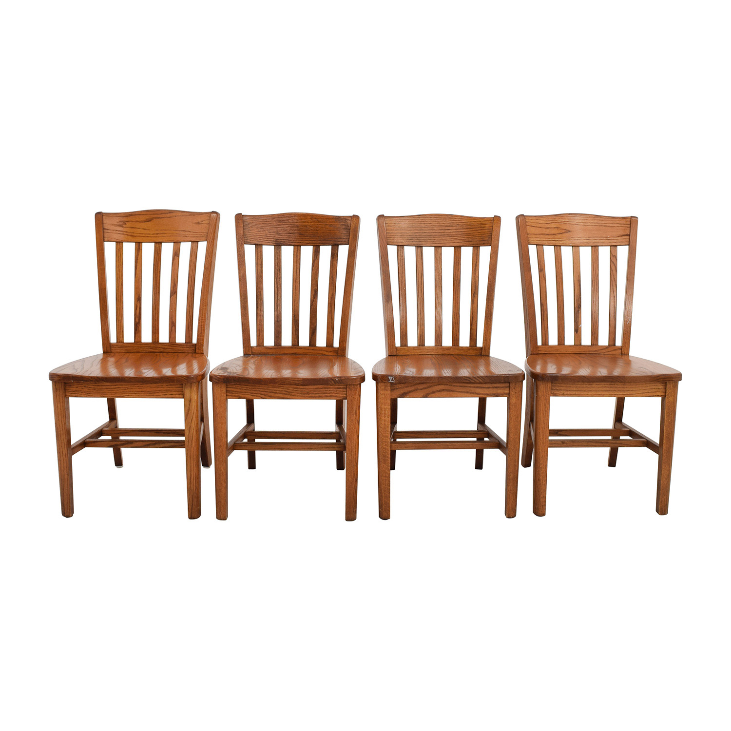 wooden slat chairs cool dorm 71 off four brown back wood