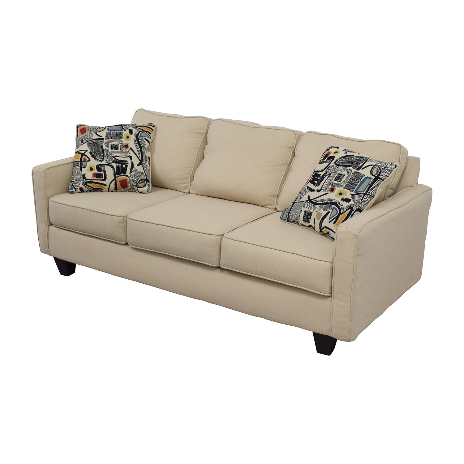 wayfair furniture sofa black leather singapore 52 off allmodern three cushion beige