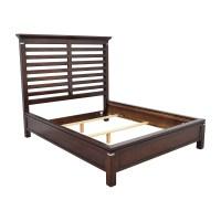 75% OFF - Tea Trade Tea Trade Dark Wood Caged Queen Bed ...