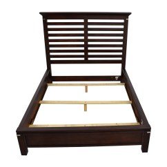 Macy Chairs Recliners Conant Ball Chair 75% Off - Tea Trade Dark Wood Caged Queen Bed Frame / Beds