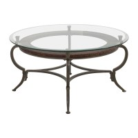 86% OFF - Macy's Macy's Round Metal and Glass Cocktail ...