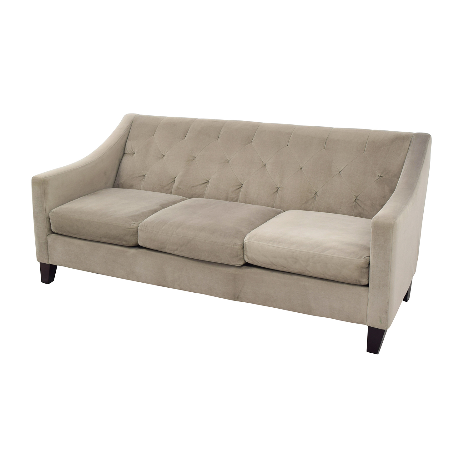 macy s furniture sofa tables intex inflatable review 63% off - macy's tufted back grey couch / sofas