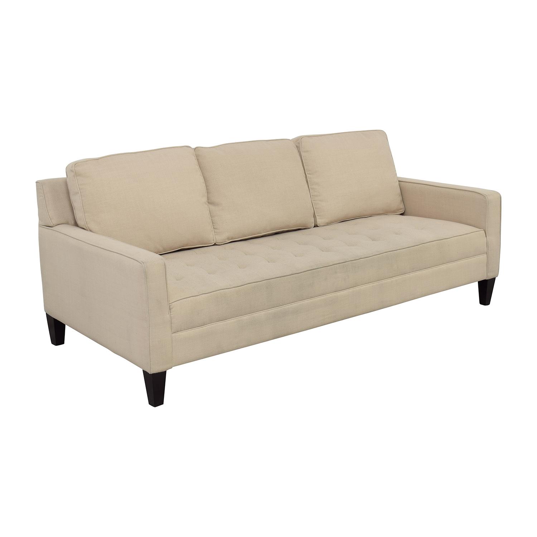 single cushion sofa pros and cons cerdic 82 off white tufted sofas